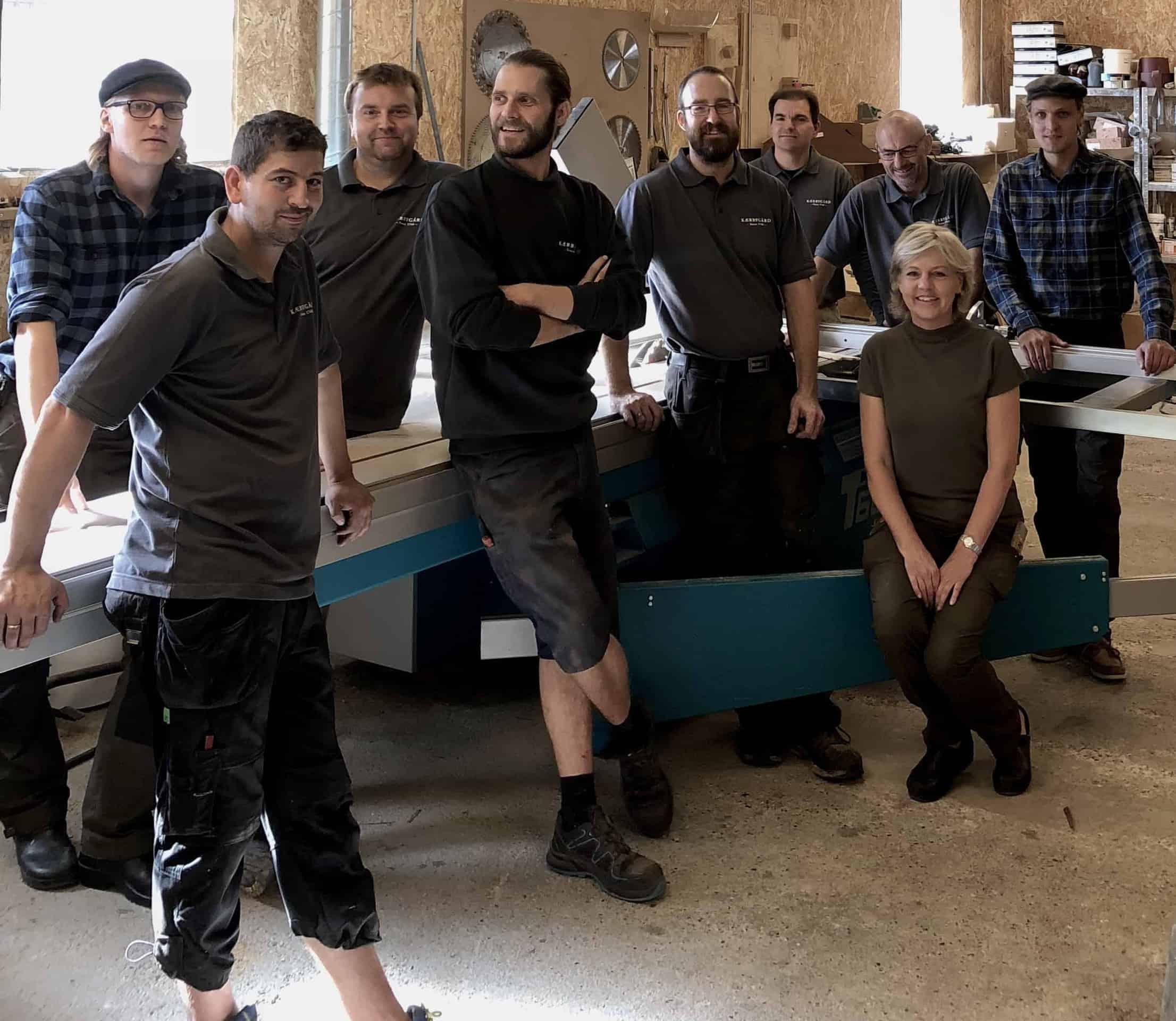 Kærbygards personale i værkstedet