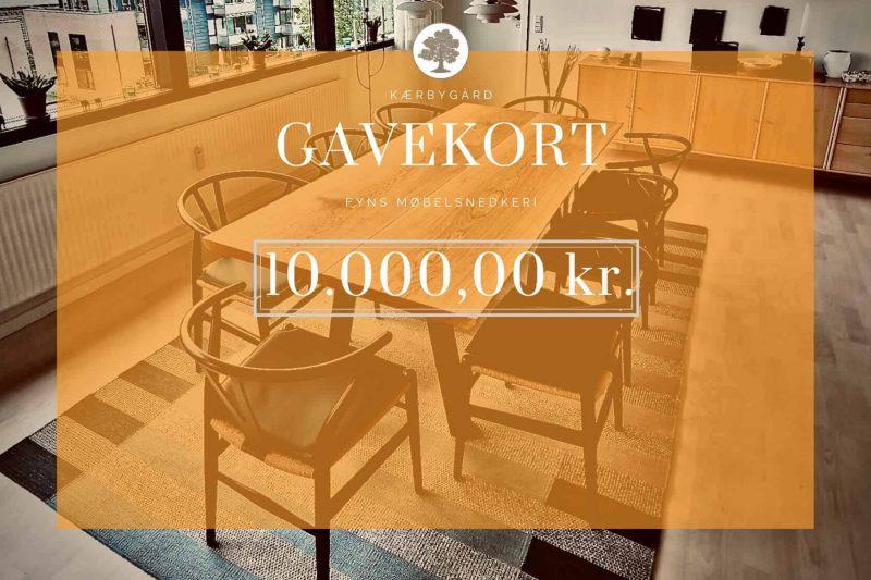 GAVEKORT 10000kr