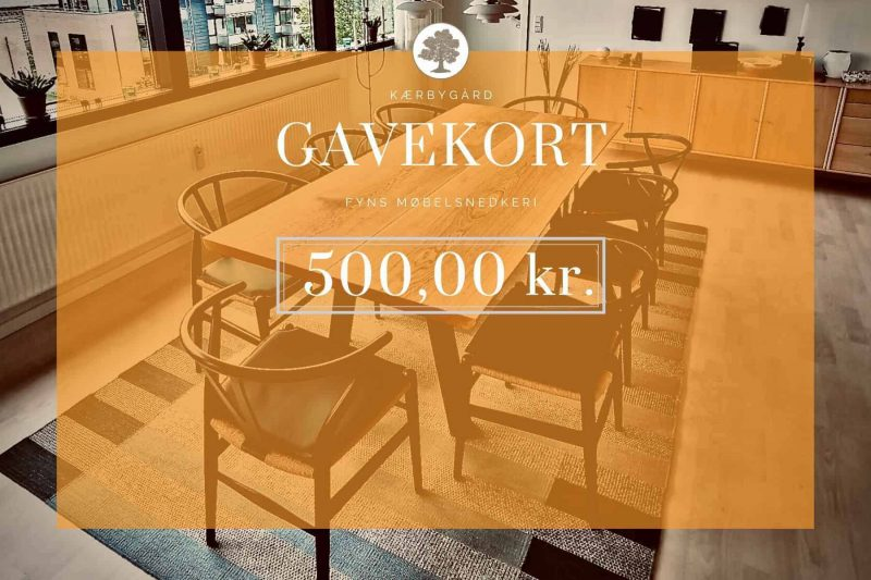 GAVEKORT 500kr