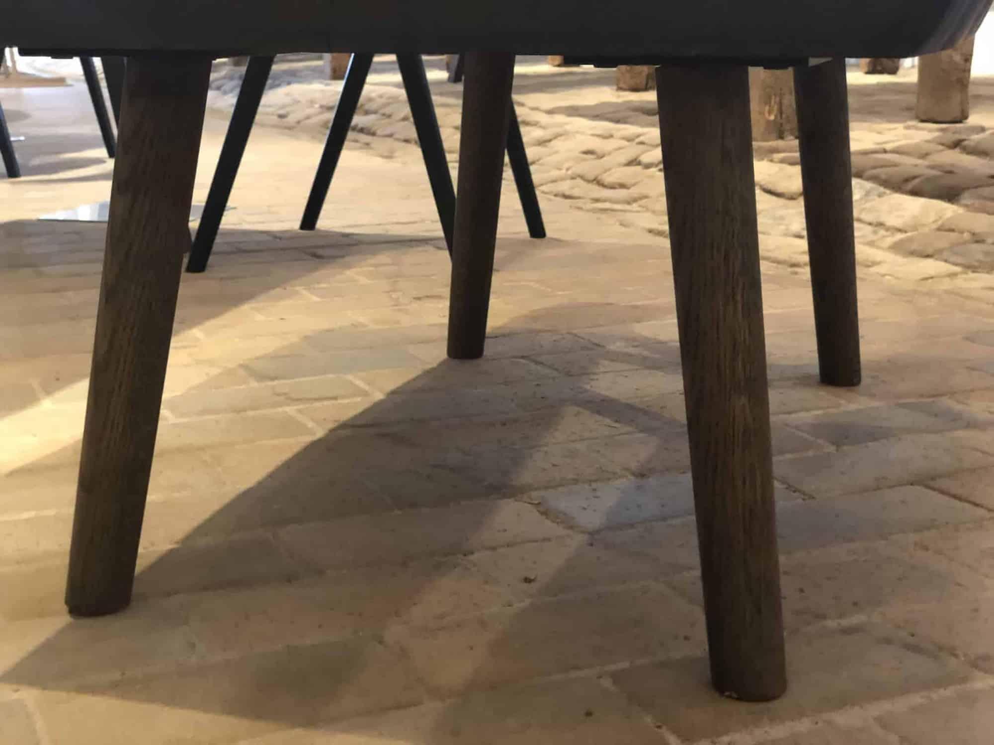 runde bordben i træ