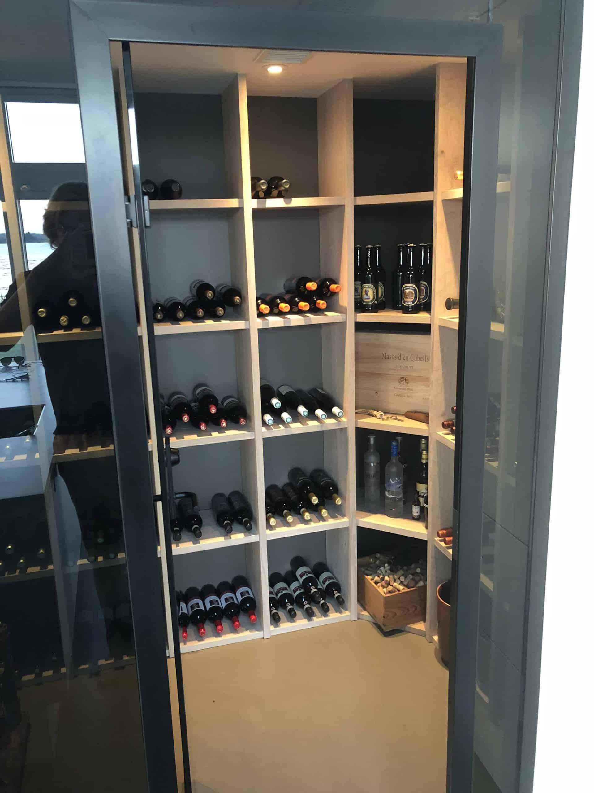 wine rack in wood