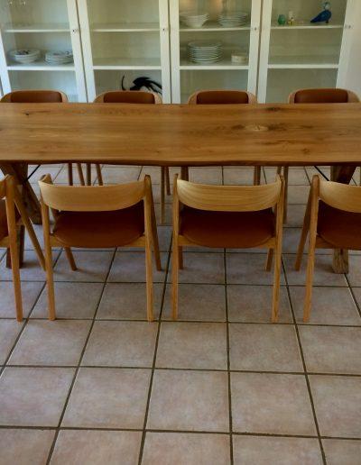 Plankebord i elmetrae 2021 kaerbygaard 2021 med udtryk og 2 tillaegsplader inkl mette spisebordsstole 3