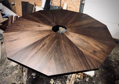Seks kant Rundt bord rundbord  12