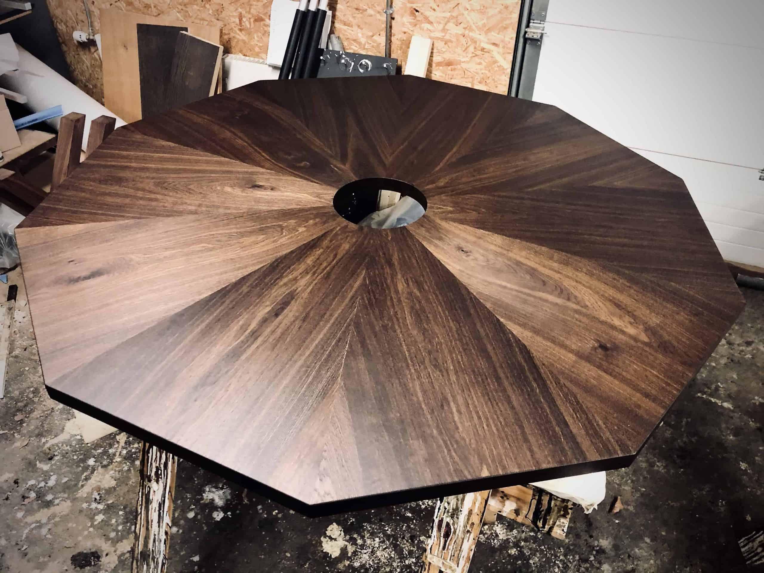 Seks kant Rundt bord rundbord 12 scaled bord med seks kanter som er rundt runde borde