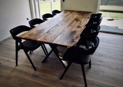 Snedkerbord Mette spisebordsstol Kaerbygård plankeborde mm faerdige 28