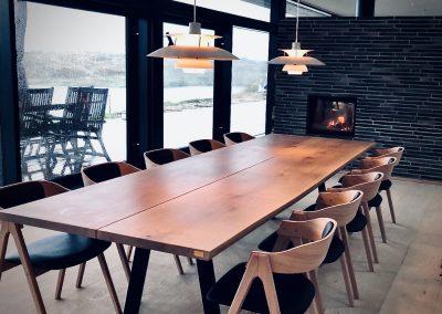 Snedkerbord Mette spisebordsstol Kaerbygård plankeborde mm faerdige 46