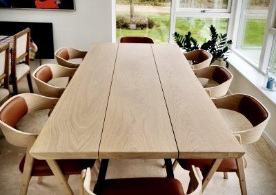 Snedkerbord Mette spisebordsstol Kaerbygård plankeborde mm faerdige 56