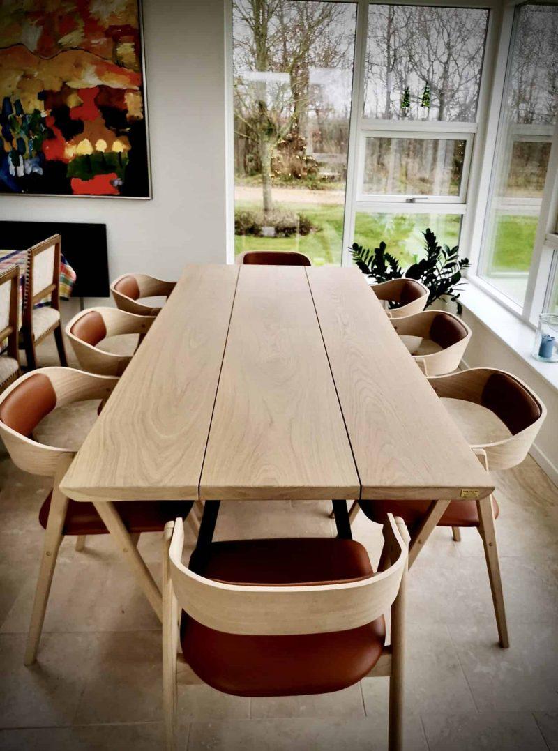 Snedkerbord Mette spisebordsstol Kaerbygård plankeborde mm faerdige 56 scaled