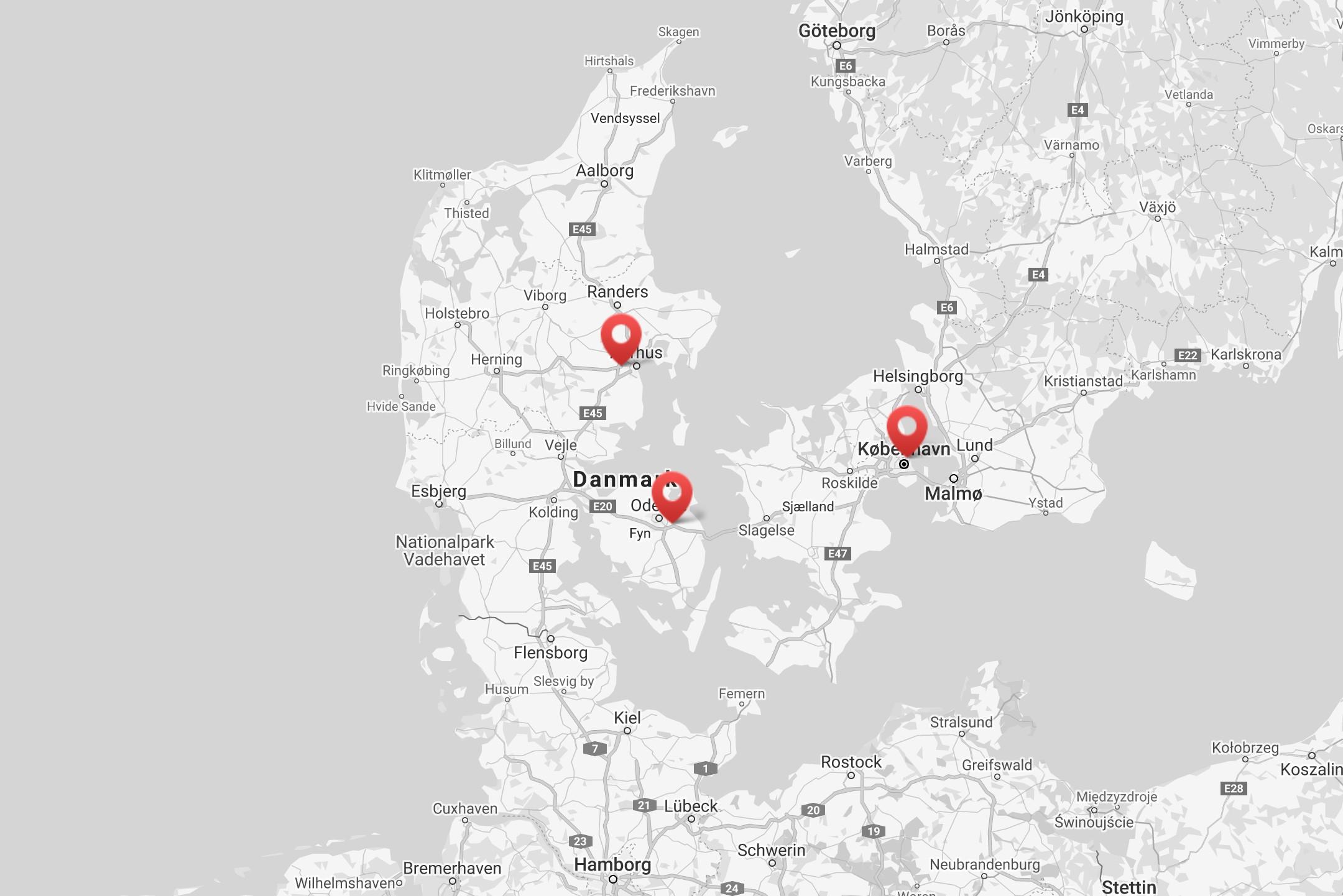 map vandret