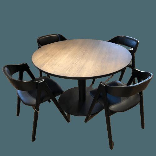 rundt bord og stol uden baggrund 2 3