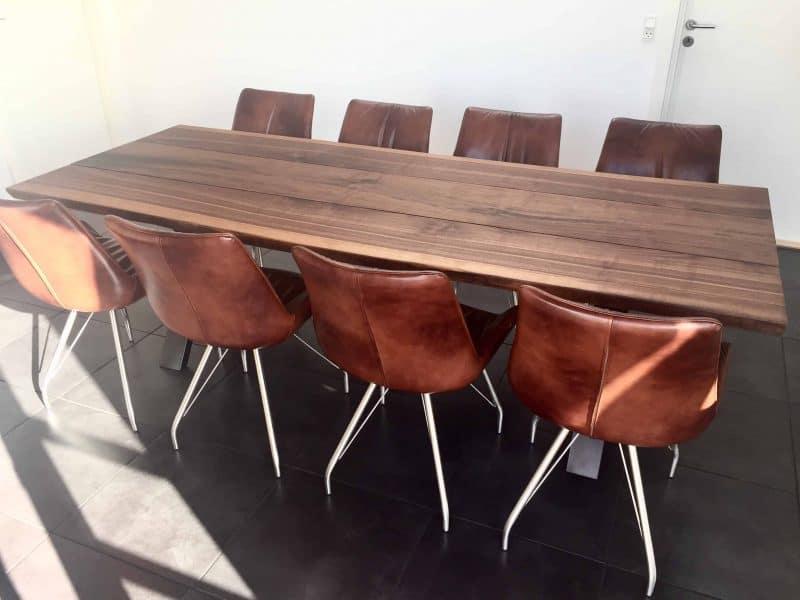 valnoeddebord 04 1 - Valnødsbord med stole i natur olie
